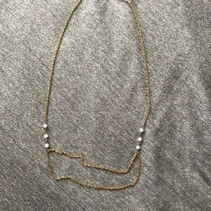 Gold w/ Pearl Layer Necklace